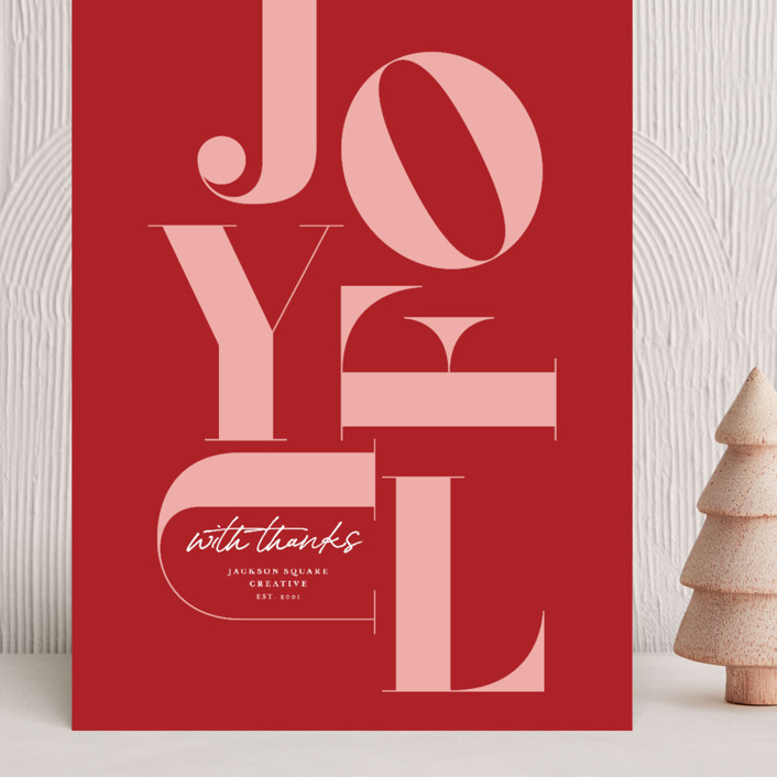"""""""Joyful Stack"""" - Grand Holiday Cards in Candy Cane by Caitlin Considine."""