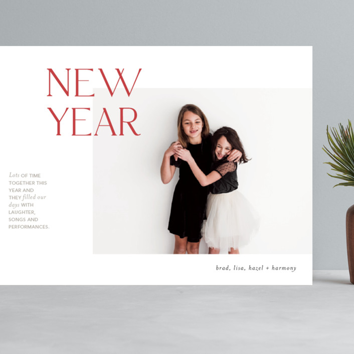 """""""Joyful Edits"""" - Grand Holiday Cards in Rosy Cheeks by Mere Paper."""