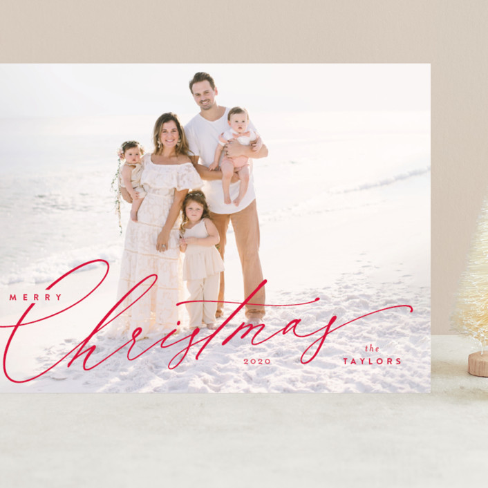 """""""Festive Jot"""" - Grand Holiday Cards in Berry by Kristie Kern."""