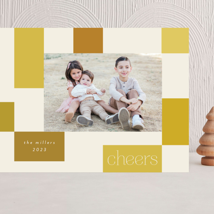 """""""Checkerboard"""" - Grand Holiday Cards in Sunshine by Morgan Kendall."""