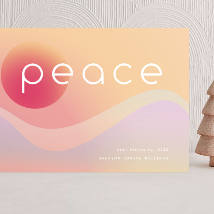 """""""a new peace"""" - Modern Grand Holiday Cards in Compassion by Kamala Nahas."""