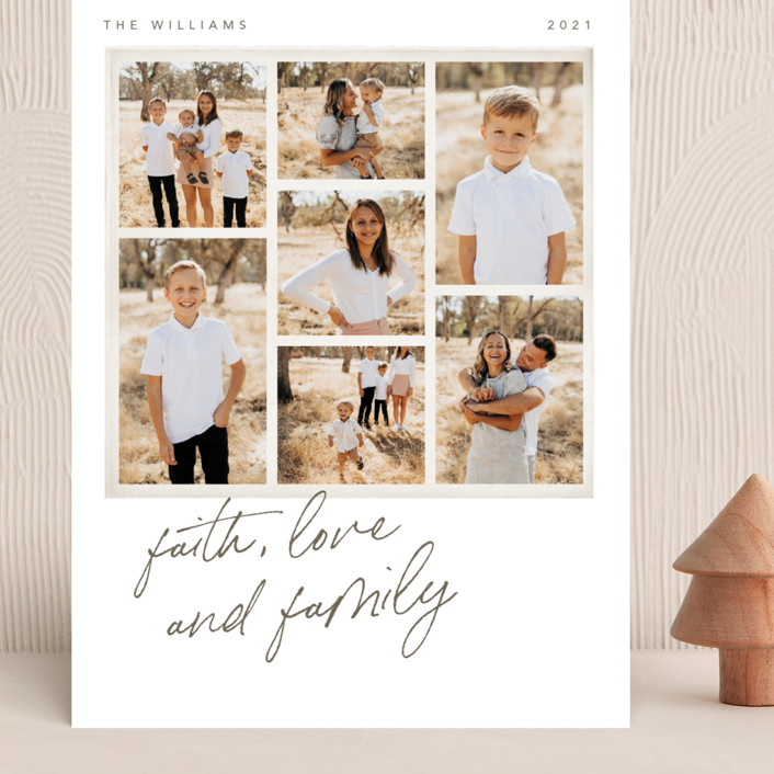 """""""Seven Stack"""" - Grand Holiday Cards in Chestnut by Robert and Stella."""