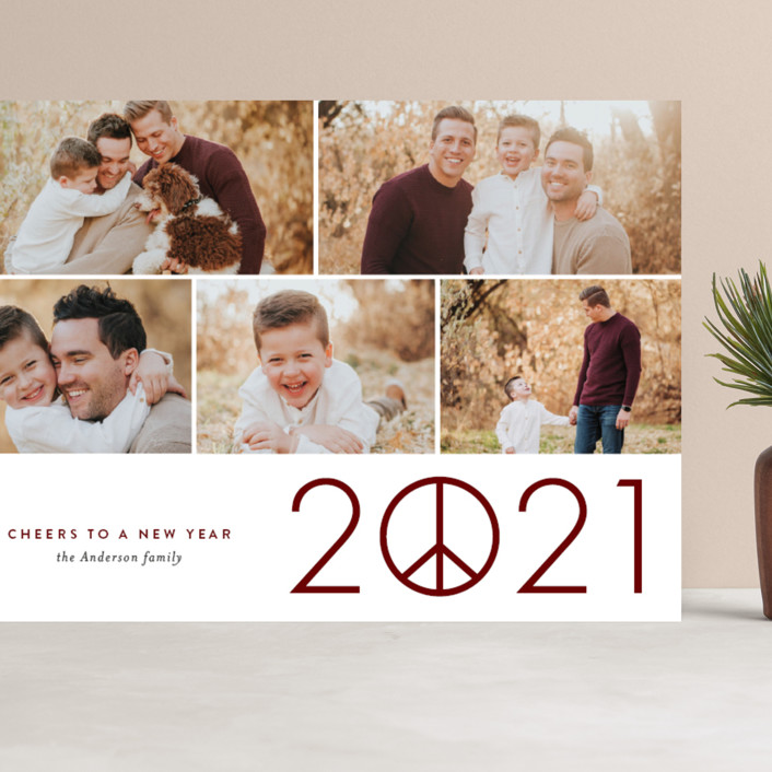 """""""Hope in 2021"""" - Grand Holiday Cards in Merlot by Jessica Ogden."""