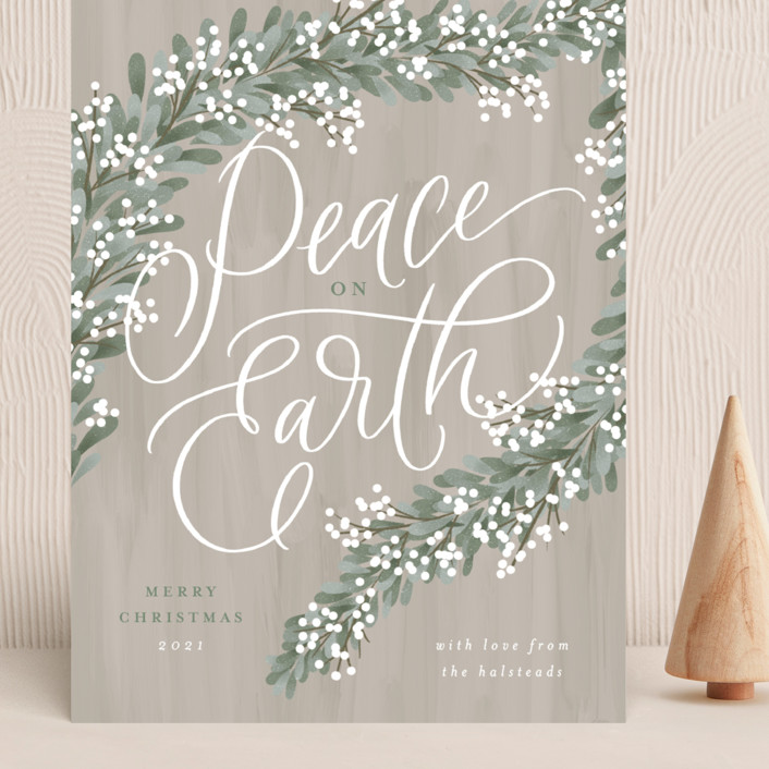 """""""Peace Garland"""" - Grand Holiday Cards in Sage by Erin German."""