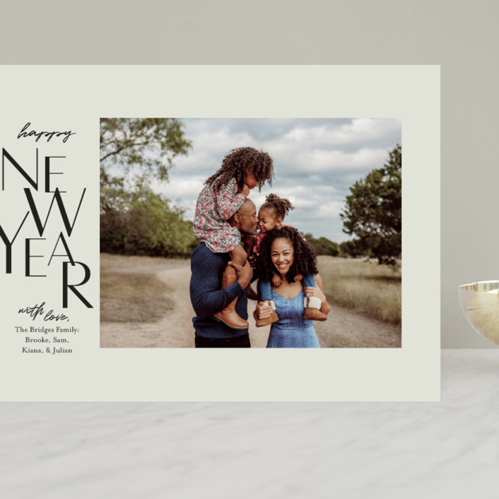 """""""Gallery Type"""" - Grand Holiday Cards in Sage by Laura Condouris."""