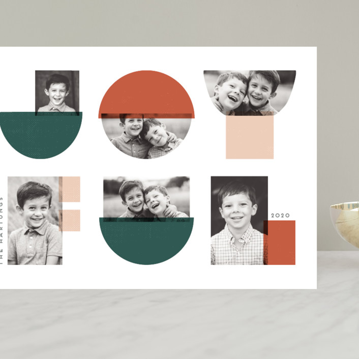 """Joyful Images"" - Modern Grand Holiday Cards in Marmalade by Lisa McLean."