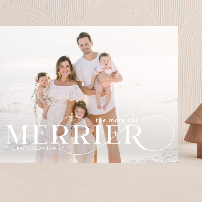 """""""More and Merrier"""" - Grand Holiday Cards in Snow by Yaling Hou Suzuki."""