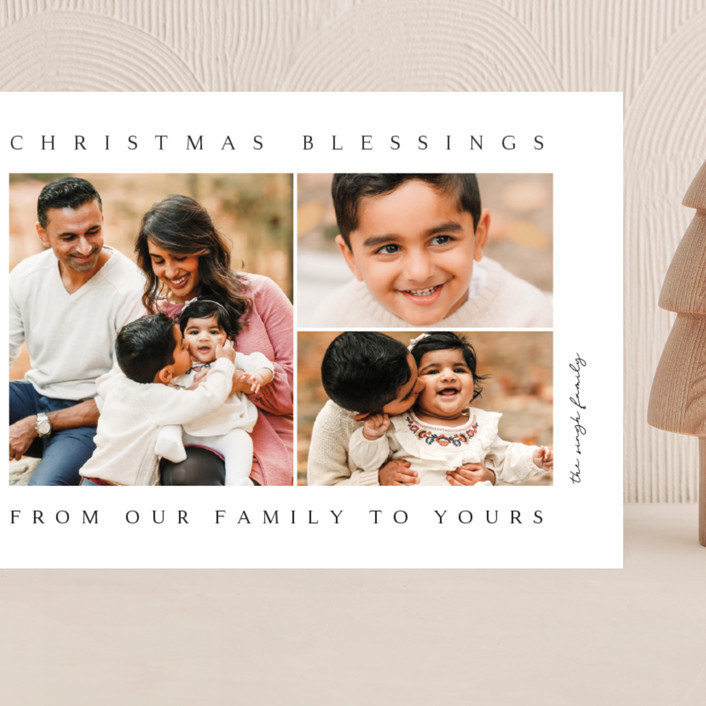 """""""family blessing"""" - Grand Holiday Cards in Ink by Kasia Labocki."""