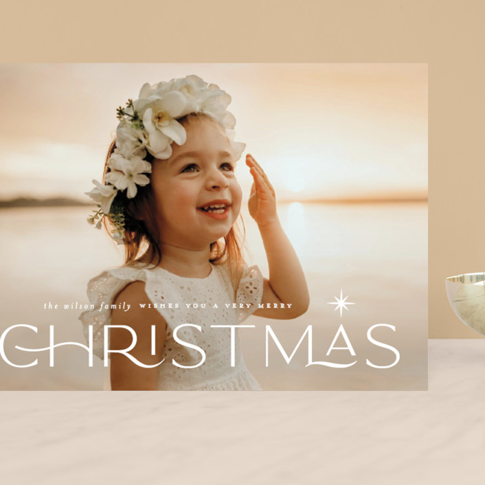 """""""Star light"""" - Vintage Grand Holiday Cards in Snow by Lauren Chism."""