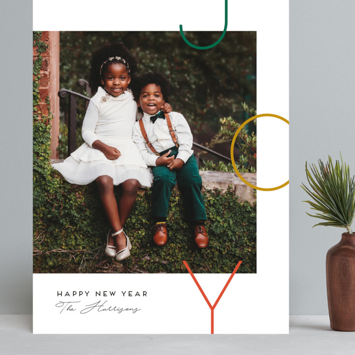"""""""Staggered joy"""" - Grand Holiday Cards in Forest by Genna Blackburn."""