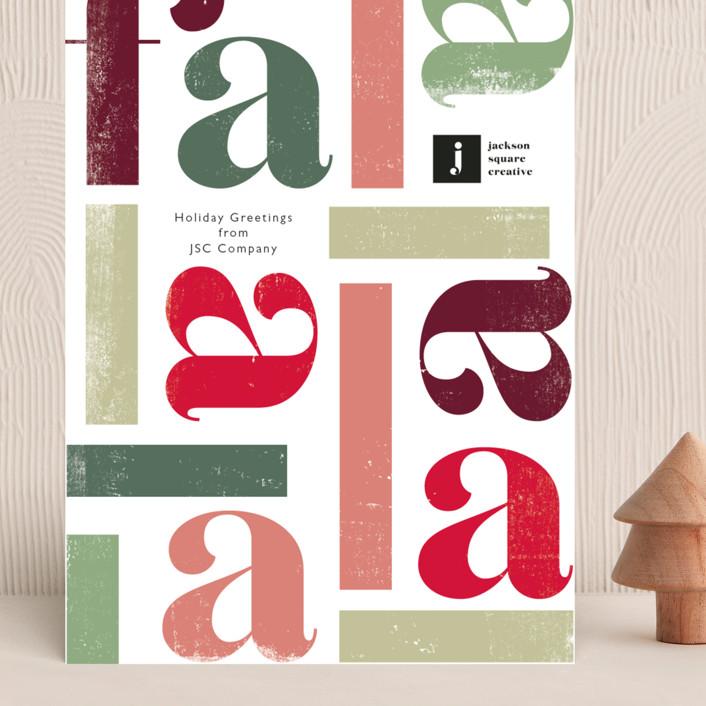 """""""Fa la la la la"""" - Grand Holiday Cards in Fruitcake by Caitlin Considine."""