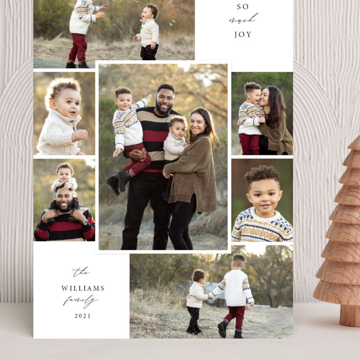 """""""Merry Seven"""" - Vintage Grand Holiday Cards in Snowflake by Holly Whitcomb."""