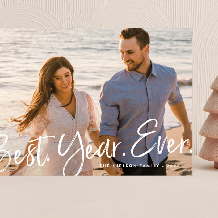 """""""Best Year Ever"""" - Modern Grand Holiday Cards in Dove Tail by Amy Payne."""
