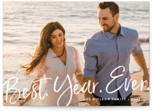 This is a colorful holiday photo card by Amy Payne called Best Year Ever with standard printing on smooth signature in grand.