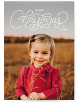 This is a white holiday photo card by Laura Hankins called Lettered Christmas with standard printing on smooth signature in grand.