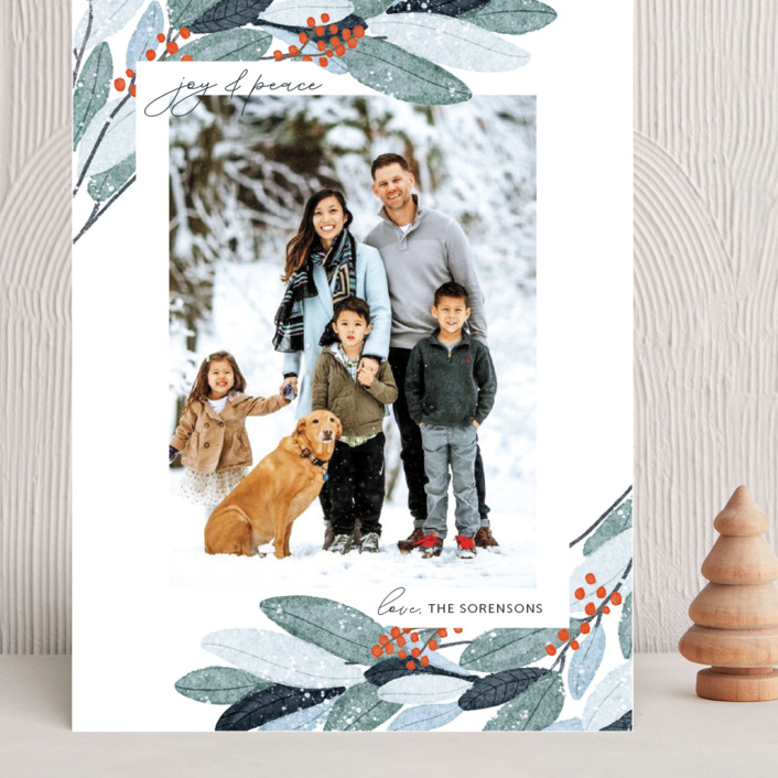 """""""Wintery Eucalyptus"""" - Grand Holiday Cards in Snow by Angel Walker."""