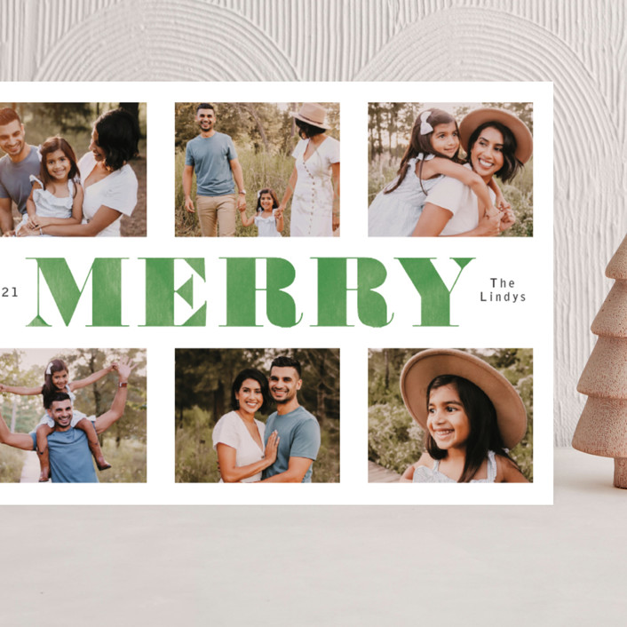 """""""Washed and Merry"""" - Grand Holiday Cards in Juniper by Betsy Siber."""