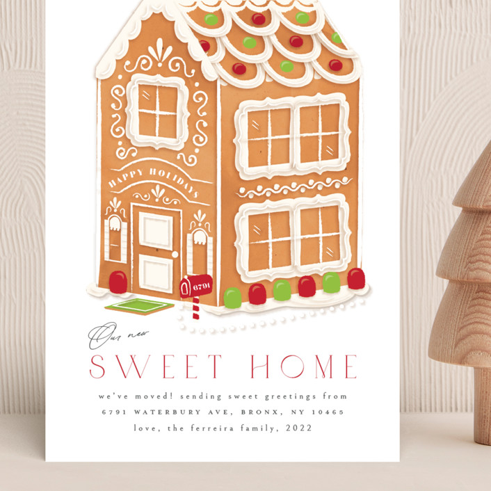 """""""sweet home"""" - Grand Holiday Cards in Evergreen by Ana de Sousa."""