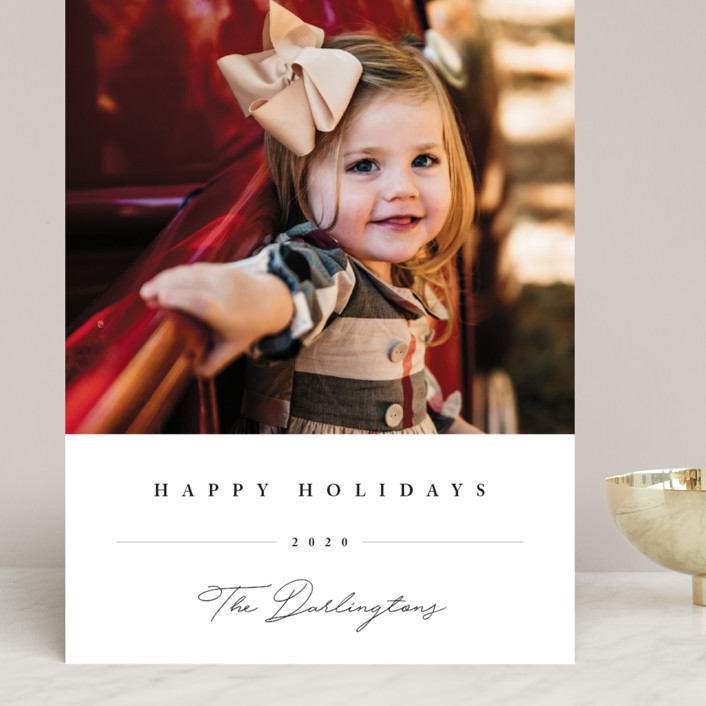 """""""Sweet Signature"""" - Grand Holiday Cards in Onyx by Chryssi Tsoupanarias."""