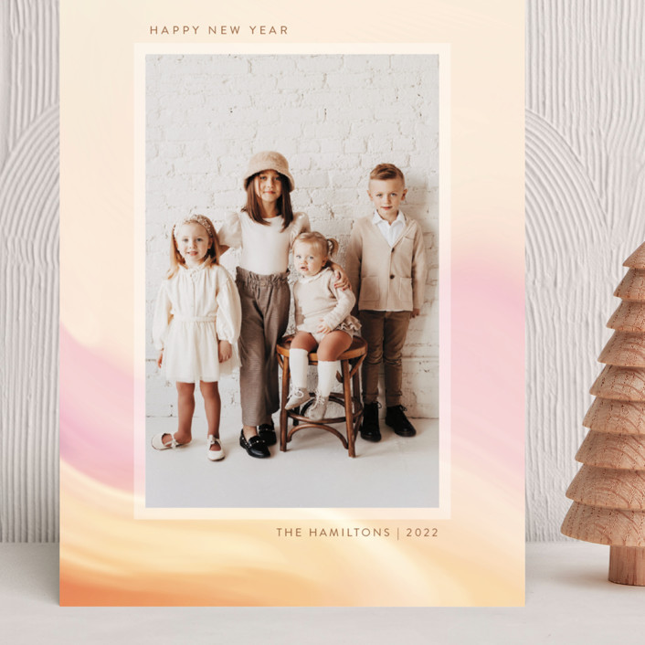 """""""painted light"""" - Grand Holiday Cards in Creamsicle by Kamala Nahas."""