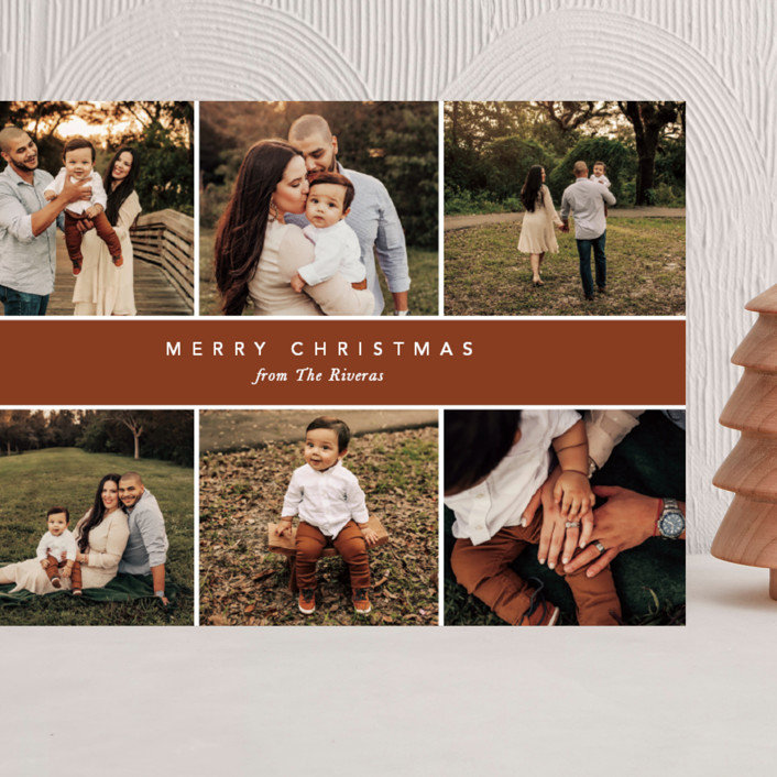 """""""Christmas Montage"""" - Grand Holiday Cards in Harvest by Vanessa Doyle."""