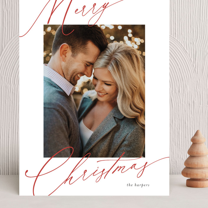 """""""scripted greeting"""" - Grand Holiday Cards in Holly by Kasia Labocki."""