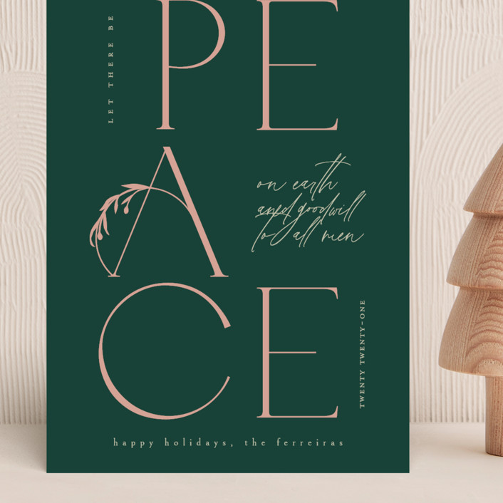 """""""Peace And Goodwill"""" - Grand Holiday Cards in Winter Rose by Ana de Sousa."""