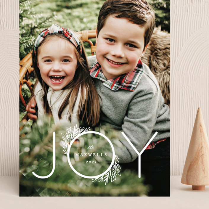 """""""Infinite Joy"""" - Grand Holiday Cards in Snow by Ally Madison."""