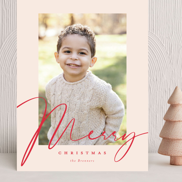 """""""Milk and Cookies"""" - Grand Holiday Cards in Holly Berry by Carrie ONeal."""