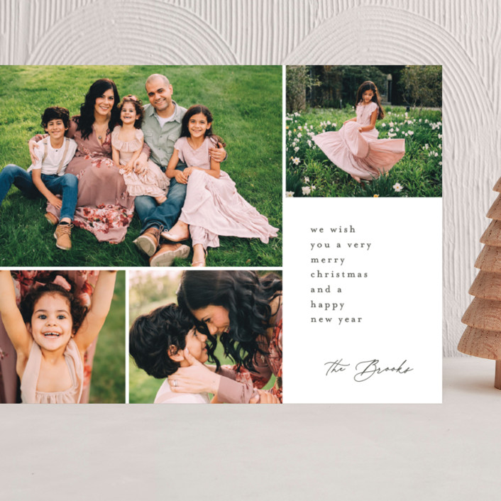 """""""Modern Greeting"""" - Grand Holiday Cards in Stone by Brianne Larsen."""