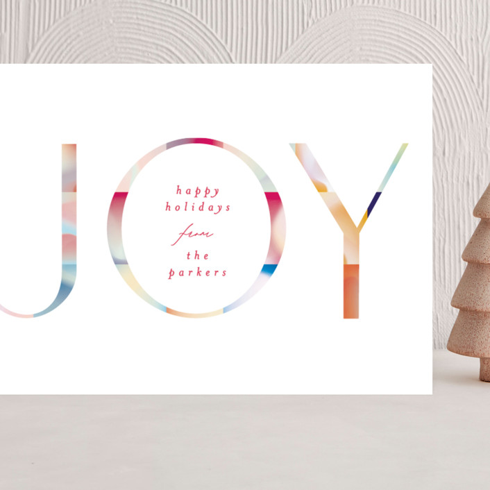 """Joyful Color Block"" - Modern Grand Holiday Cards in Festive by Phrosne Ras."