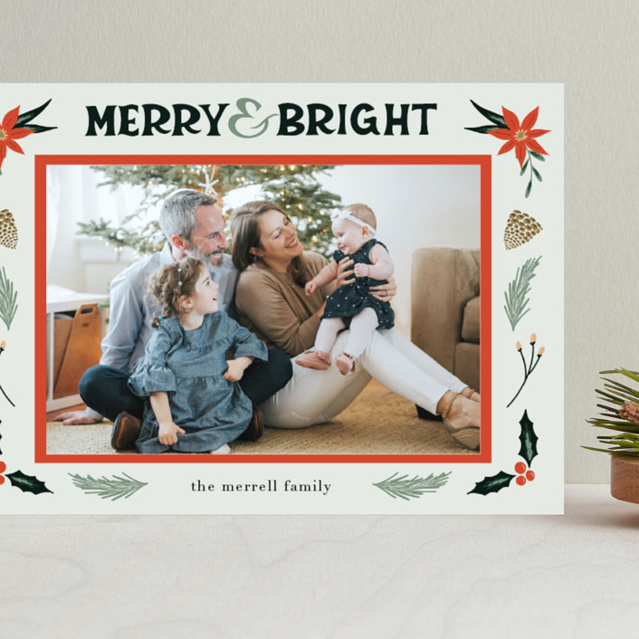 """""""Merry, Bright"""" - Vintage Grand Holiday Cards in Fog by Amanda Houston."""