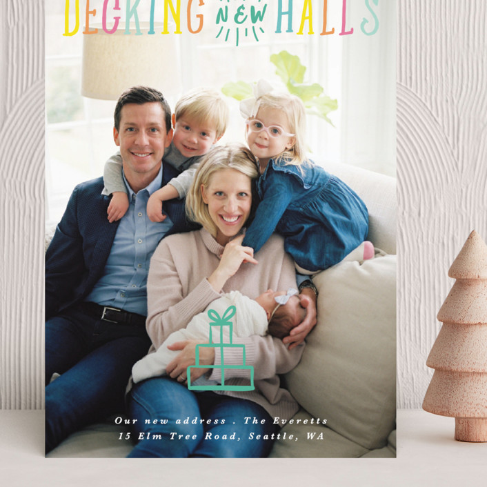 """""""Decking New Halls"""" - Grand Holiday Cards in Sunshine by Hudson Meet Rose."""