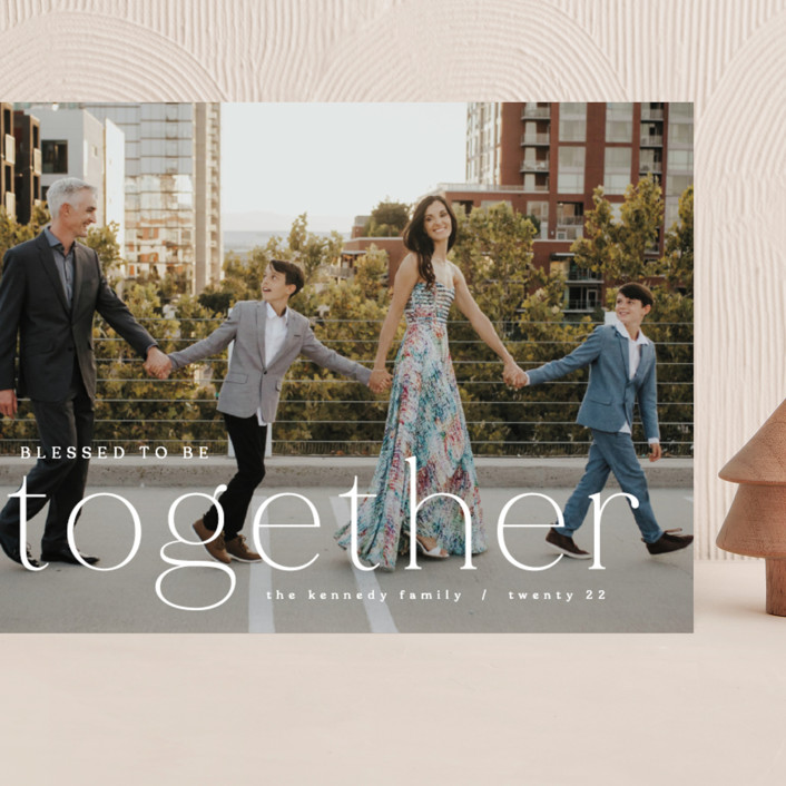 """""""Blessed to be Together"""" - Grand Holiday Cards in Snow by Hooray Creative."""