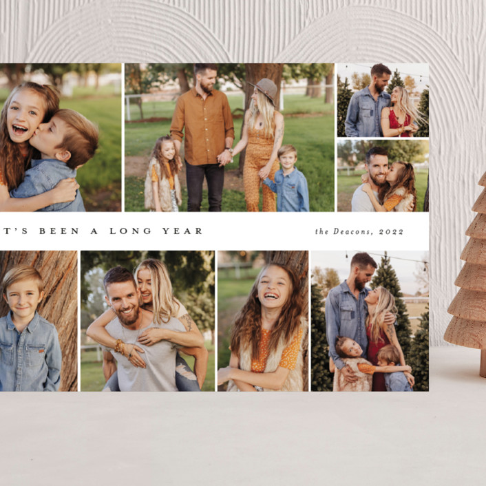 """""""Many memories"""" - Grand Holiday Cards in Cotton by Stacey Meacham."""