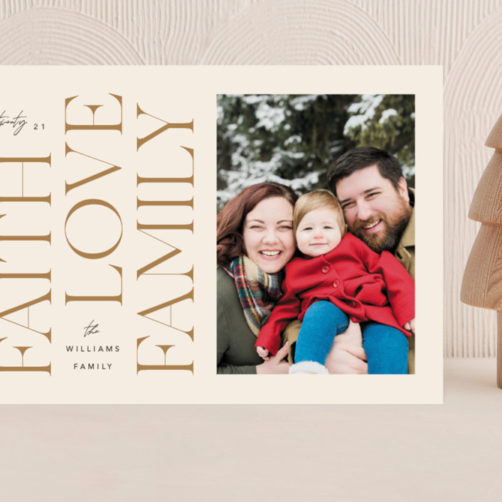 """""""Faith & Love & Family"""" - Grand Holiday Cards in Buttercream by Robert and Stella."""