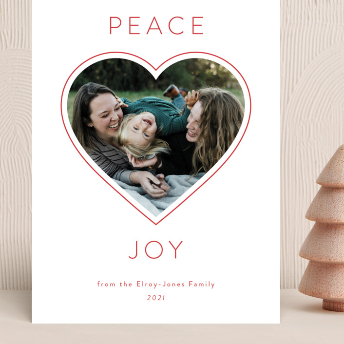 """""""Picture of Love"""" - Grand Holiday Cards in Snow by Kim Dietrich Elam."""