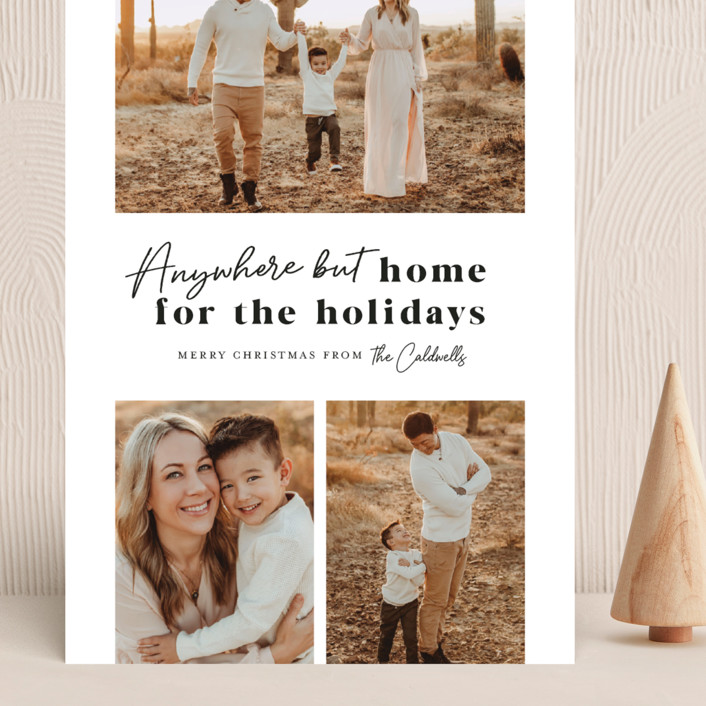 """""""Anywhere But Home"""" - Grand Holiday Cards in Coal by Melissa Egan of Pistols."""