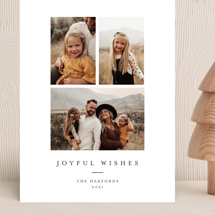 """Joyful Trio"" - Grand Holiday Cards in Noir by Angela Thompson."