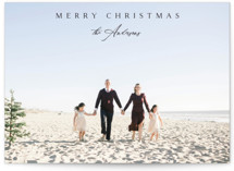 This is a black holiday photo card by Kasia Labocki called Classical with standard printing on smooth signature in grand.