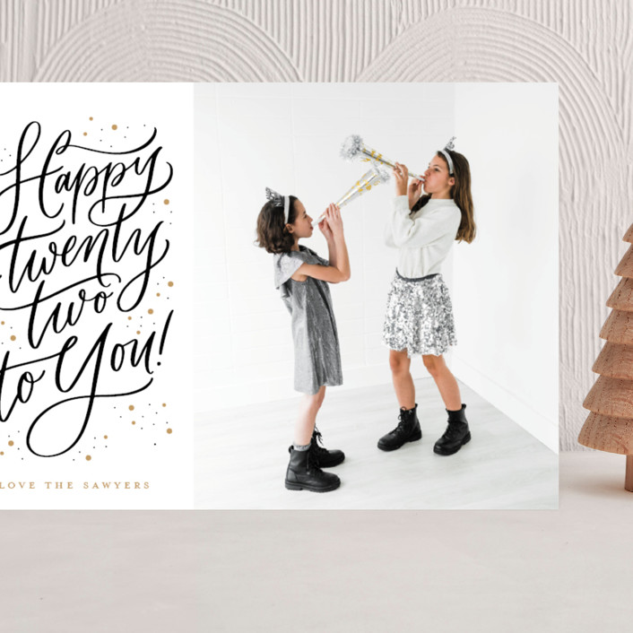"""""""Happy 22"""" - Grand Holiday Cards in Sparkle by Erin German."""