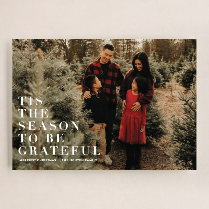 """""""to be grateful"""" - Grand Holiday Cards in Snow by Angela Marzuki."""