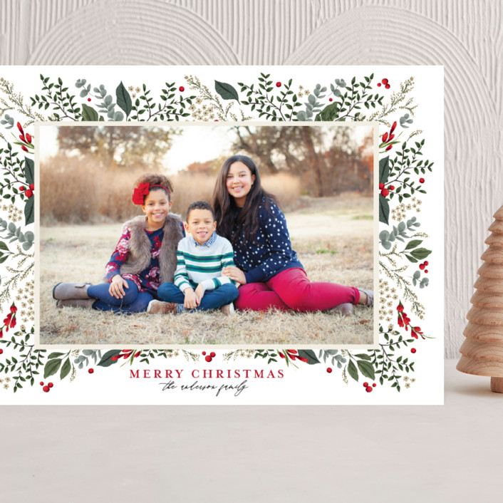 """""""Classic Christmas"""" - Grand Holiday Cards in Crimson by Susan Moyal."""