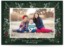 This is a green holiday photo card by Susan Moyal called Classic Christmas with standard printing on smooth signature in grand.