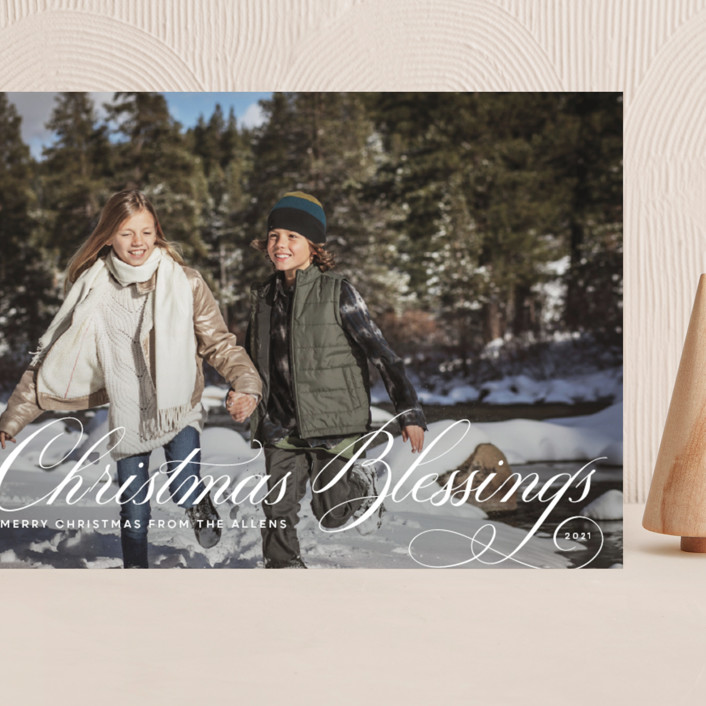 """""""Beautiful Blessings"""" - Grand Holiday Cards in Snow by Toast & Laurel."""