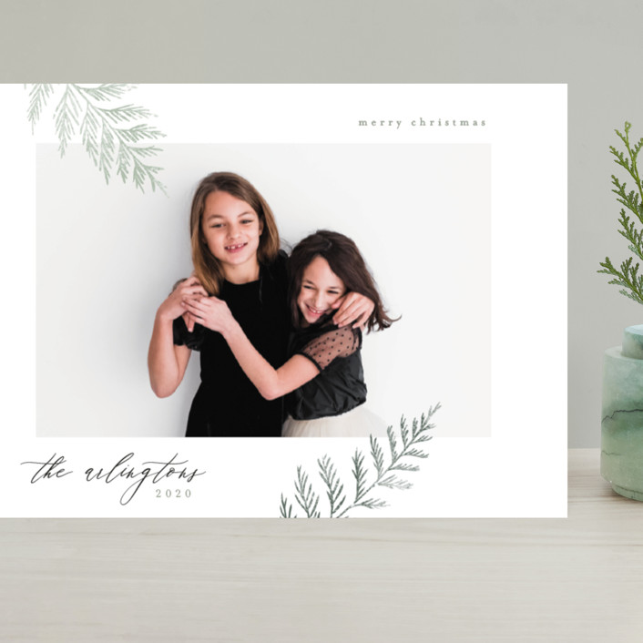 """""""Minimal Elegance"""" - Grand Holiday Cards in Snow by Kelly Schmidt."""