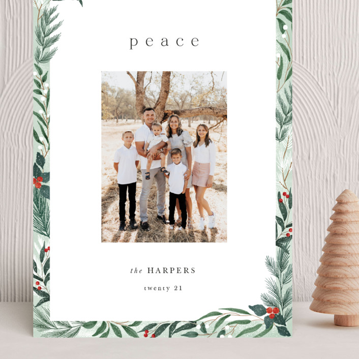 """""""Frosty"""" - Grand Holiday Cards in Mint by Elly."""