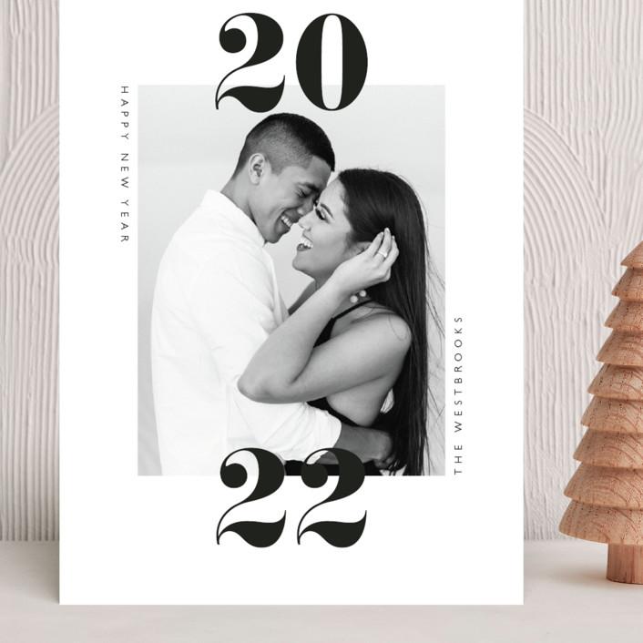 """""""twenty-twenty-one"""" - Grand Holiday Cards in Cloud by Erin Deegan."""