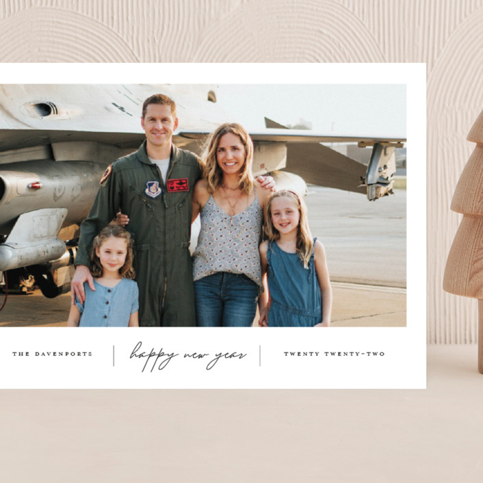 """""""Happiness"""" - Grand Holiday Cards in Onyx by That Girl Press."""