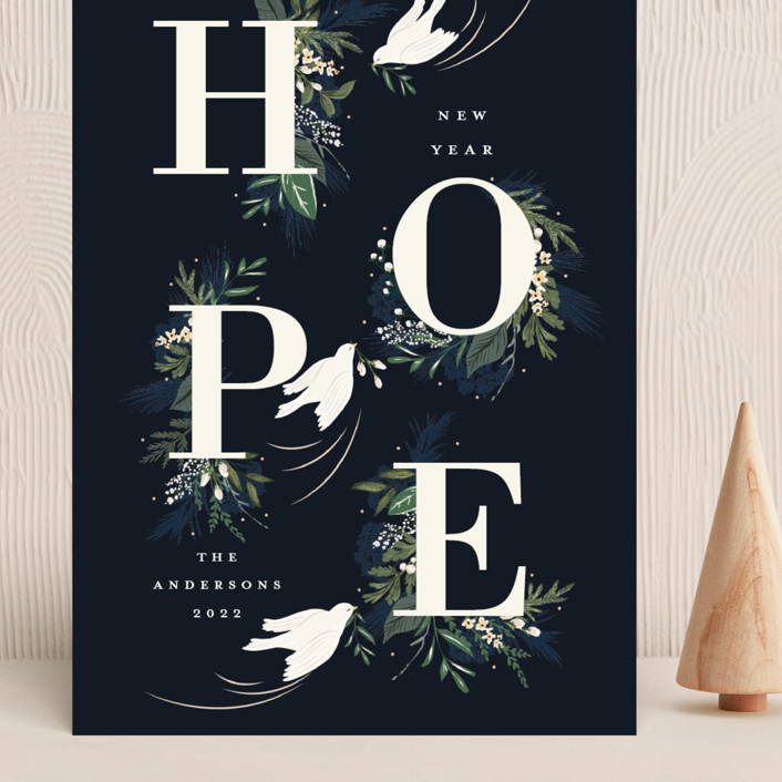 """Hope"" - Grand Holiday Cards in Winter by Susan Moyal."
